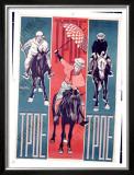 Trio Framed Giclee Print by Mikhail O. Dlugach