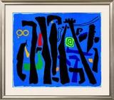 Bewegte Vertikalen Auf Blau, c.1953 Posters by Willi Baumeister