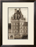 Sepia Chateaux VIII Art by Victor Petit