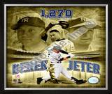 Derek Jeter 2008 Most Career Hits at Yankee Stadium Framed Photographic Print