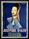 Josephine Baker Framed Giclee Print by Guy-Gerard Noel