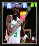 Kevin Garnett, Game 2 of the 2008 NBA Finals; Celebration 5 Framed Photographic Print