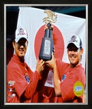 Hideki Okajima and Daisuke Matsuzaka Framed Photographic Print