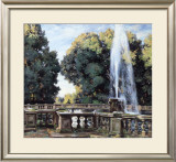 The Fountain, Villa Torlonia Prints by Wilfred Gabriel de Glehn