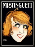 Mistinguett Framed Giclee Print by Orsi 