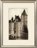 Sepia Chateaux VII Art by Victor Petit