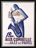 Alix Combelle Framed Giclee Print by Paul Colin
