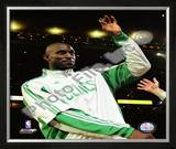 Kevin Garnett with 2007-08 Championship Ring Framed Photographic Print