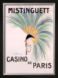 Mistinguett, Casino de Paris Framed Giclee Print by Charles Gesmar