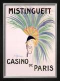 Mistinguett, Casino de Paris Framed Giclee Print by Charles Gesmar