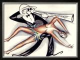 Josephine Baker Jazz Band Framed Giclee Print