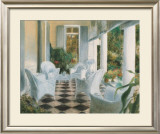 White Summer Terrace Prints by Piet Bekaert