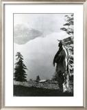 Praying to the Spirits at Crater Lake, Klamath Print by Edward S. Curtis