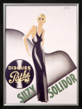 Suzy Solidor Framed Giclee Print by Paul Colin