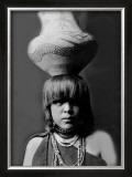 San Ildefonso Girl with Jar Framed Giclee Print by Edward S. Curtis