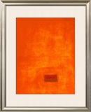 Untitled, c.1991 (Orange) Poster by Jürgen Wegner