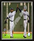 Carl Crawford & B.J. Upton 2008 ALCS Game 4 Framed Photographic Print