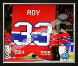 Patrick Roy &amp; Carey Price Jersey Retirement Night 2008-09 Framed Photographic Print