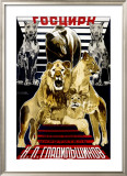 Russian Circus Framed Giclee Print by Mikhail O. Dlugach