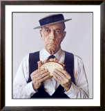 Buster Keaton Eats Levy Jewish Rye Framed Giclee Print
