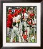 The Philadelphia Phillies 2008 Game 4 Celebration Framed Photographic Print