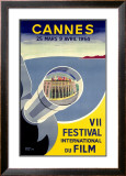 Cannes, VII Festival International du Film, 1954 Framed Giclee Print by  Piva