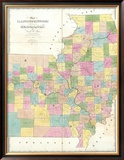 Map of Illinois and Missouri, c.1839 Framed Giclee Print by David H. Burr
