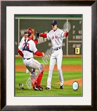 Jon Lester's 2008 No Hitter, Celebration Framed Photographic Print