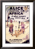Alice Hunting in Africa, a Walt Disney Comic Framed Giclee Print