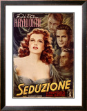 Rita Hayworth in Seduction Framed Giclee Print