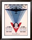 Victory, Franklin D. Roosevelt Framed Giclee Print by Jean Carlu