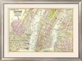 New York, Brooklyn, Jersey City, c.1891 Framed Giclee Print by Frederick W. Beers