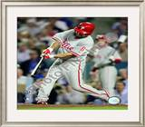 Shane Victorino 2008 NLCS Game 4 Home Run Framed Photographic Print