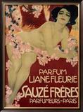 Parfum Liane Fleurie, Sauze Freres Framed Giclee Print by Leopoldo Metlicovitz