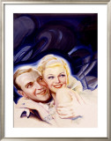 Fred Astaire and Ginger Rogers Framed Giclee Print