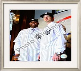 C.C. Sabathia and A.J. Burnett 2008 Press Conference Framed Photographic Print