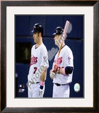 Joe Mauer & Justin Morneau Framed Photographic Print