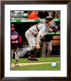 Joe Mauer 2008 Catching Action Framed Photographic Print
