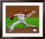 Cole Hamels 2008 Game 5 NLCS Framed Photographic Print