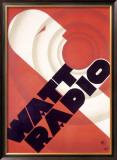 Watt Radio Station Framed Giclee Print