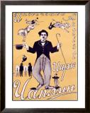 Circus Chaplin Framed Giclee Print by  Mrachkov