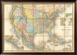 Carte Generale Des Etats, c.1865 Framed Giclee Print by Eugene Andriveau-goujon