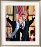 Democratic Presidential candidate Barack Obama & Vice Presidential candidate Joe Biden, Democratic Framed Photographic Print