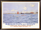 Brighton and Hove Framed Giclee Print by Charles Pears
