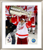 Tomas Holmstrom with the Stanley Cup, Game 6 of the 2008 NHL Stanley Cup Finals; 35 Framed Photographic Print
