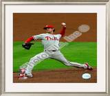 Cole Hamels 2008 Game 5 NLCS Framed Photographic Print