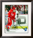 Pavel Datsyuk Game 1 of the 2008 NHL Stanley Cup Finals Action; 3 Framed Photographic Print