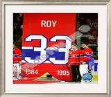 Patrick Roy & Carey Price Jersey Retirement Night 2008-09 Framed Photographic Print