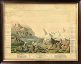 Comparative View of the Heights of the Principal Mountains in the World, c.1816 Framed Giclee Print by Charles Smith