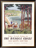 Basque Coast Framed Giclee Print by Hervé Baille